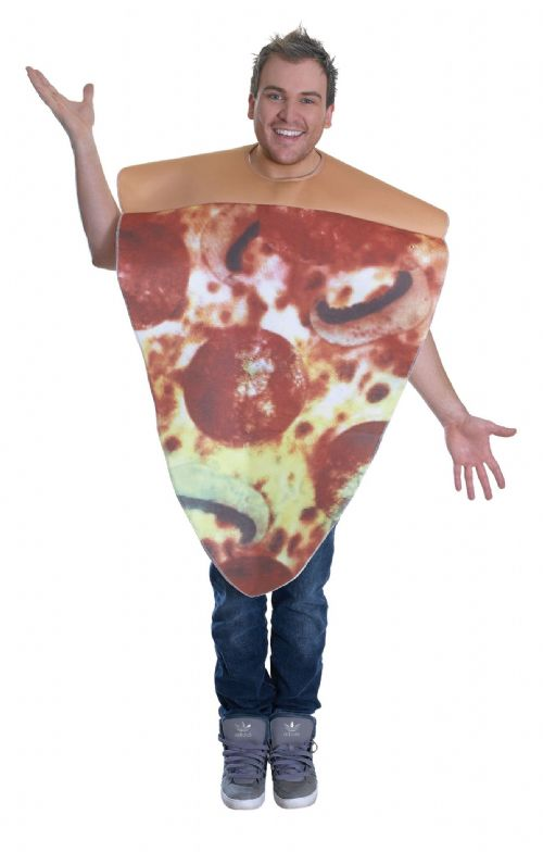 Adults Pizza Costume Costume Take-Away Italian Food Fancy Dress Outfit